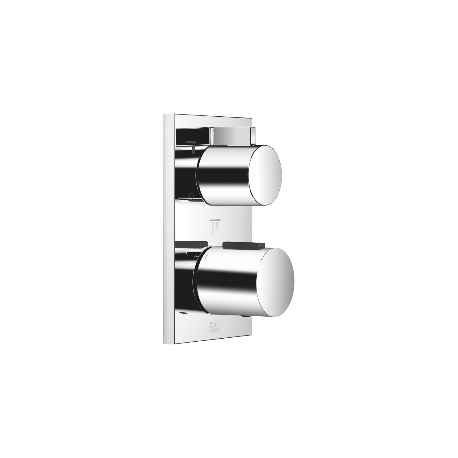 Concealed thermostat with three function volume control - polished chrome
