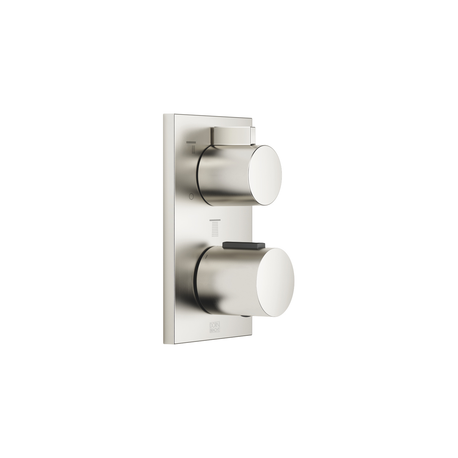 Concealed thermostat with three-way volume control - platinum matte