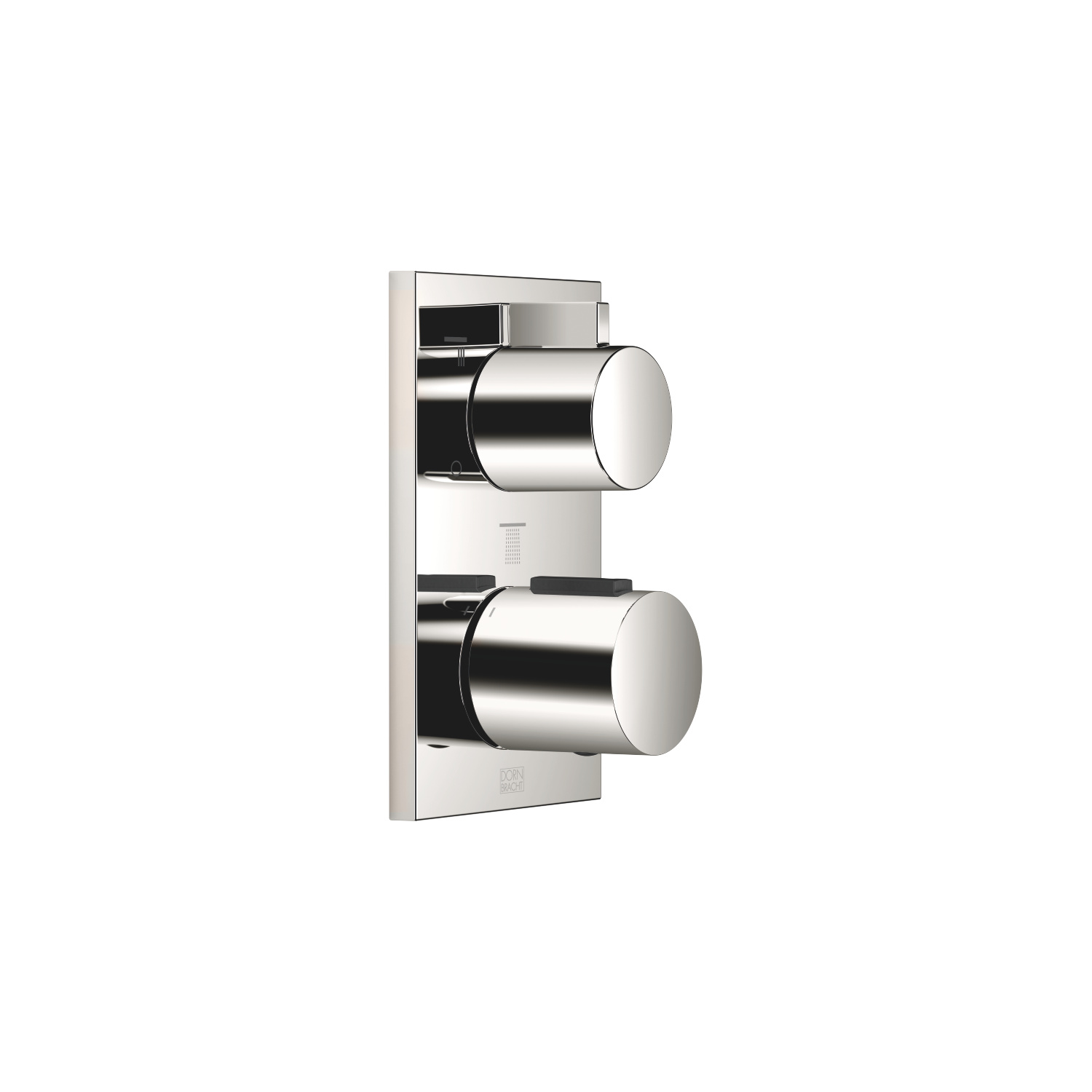 Concealed thermostat with three-way volume control - platinum