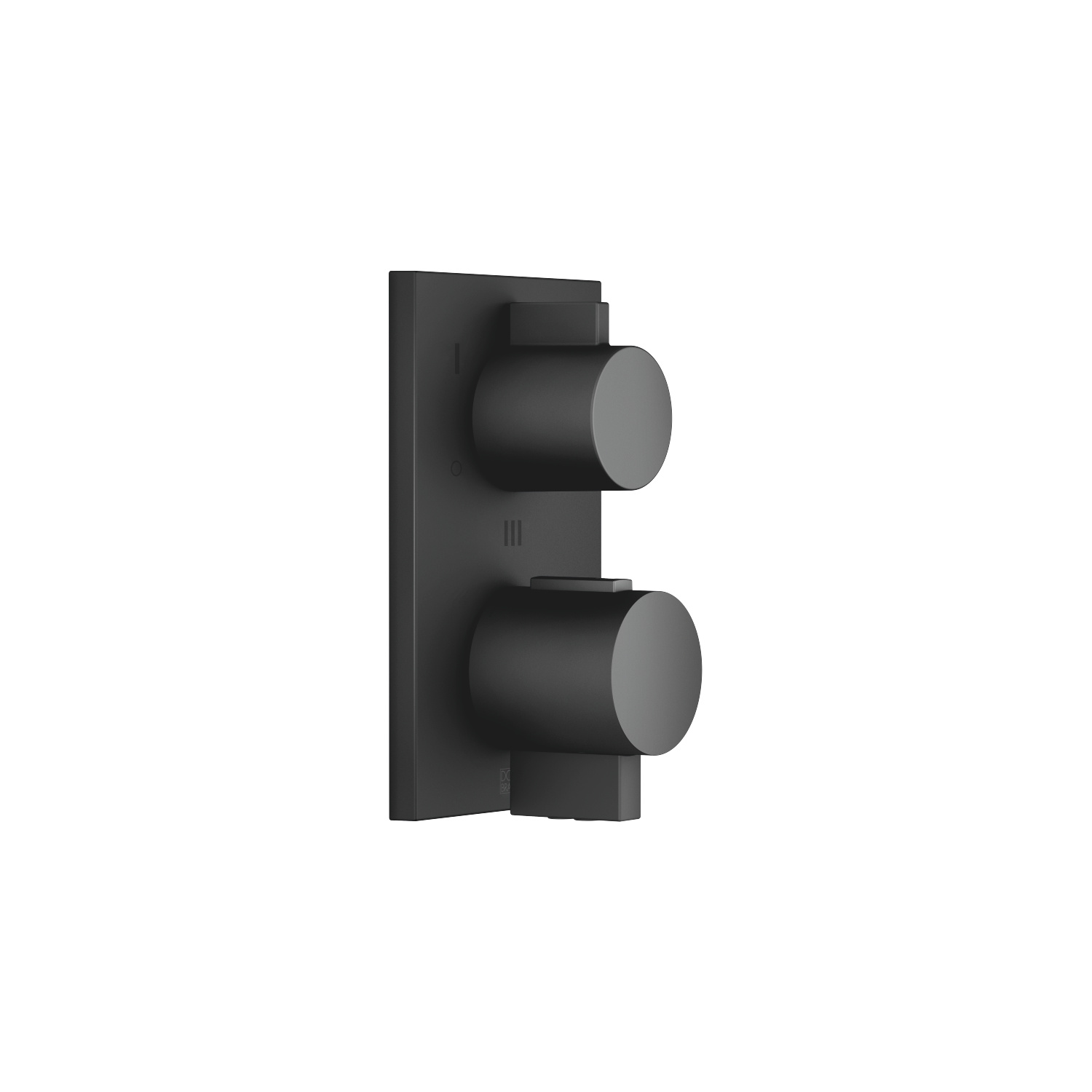 Concealed thermostat with three-way volume control - black matte