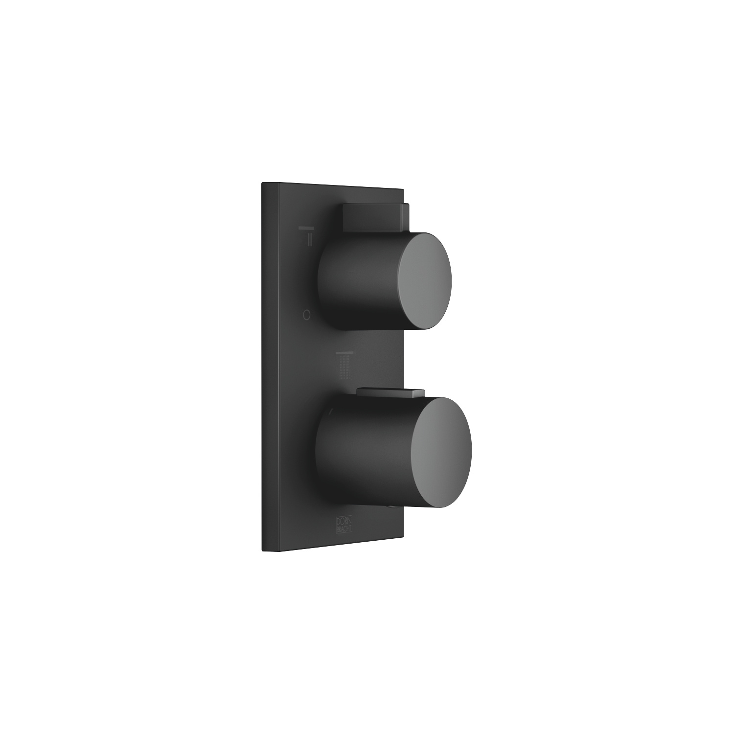 Concealed thermostat with three function volume control - matt black