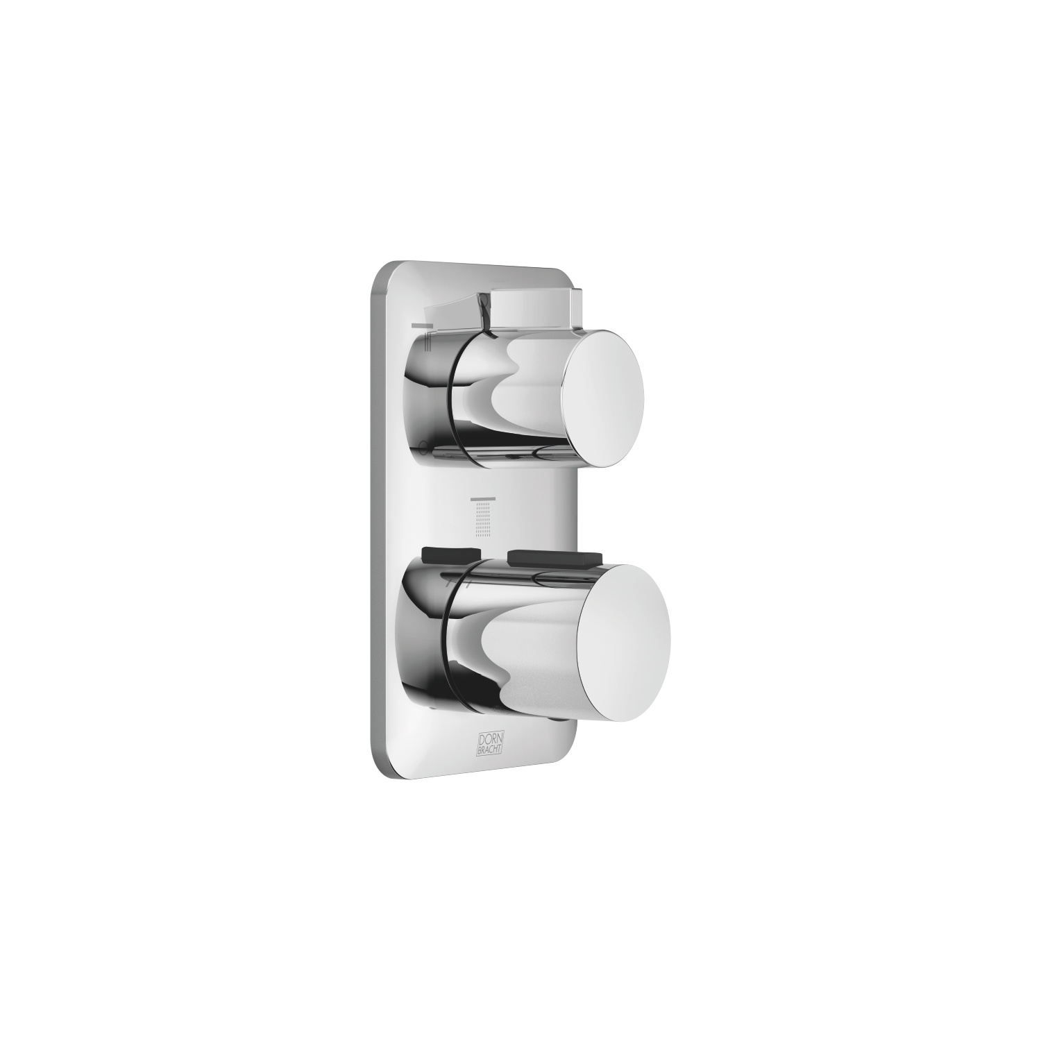 Concealed thermostat with three function volume control - polished chrome - 36 427 845-00