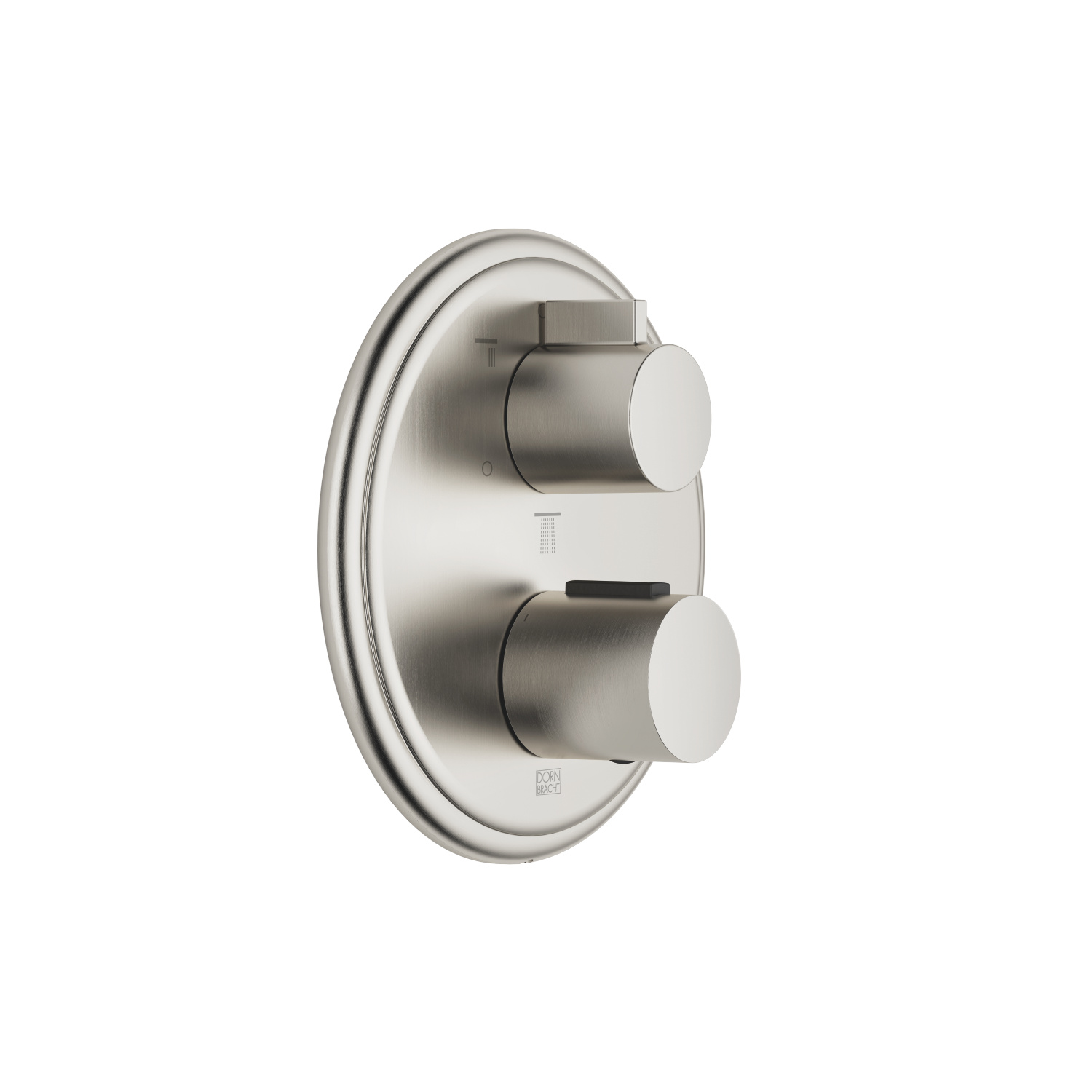 Concealed thermostat with three function volume control - platinum matt - 36 427 977-06