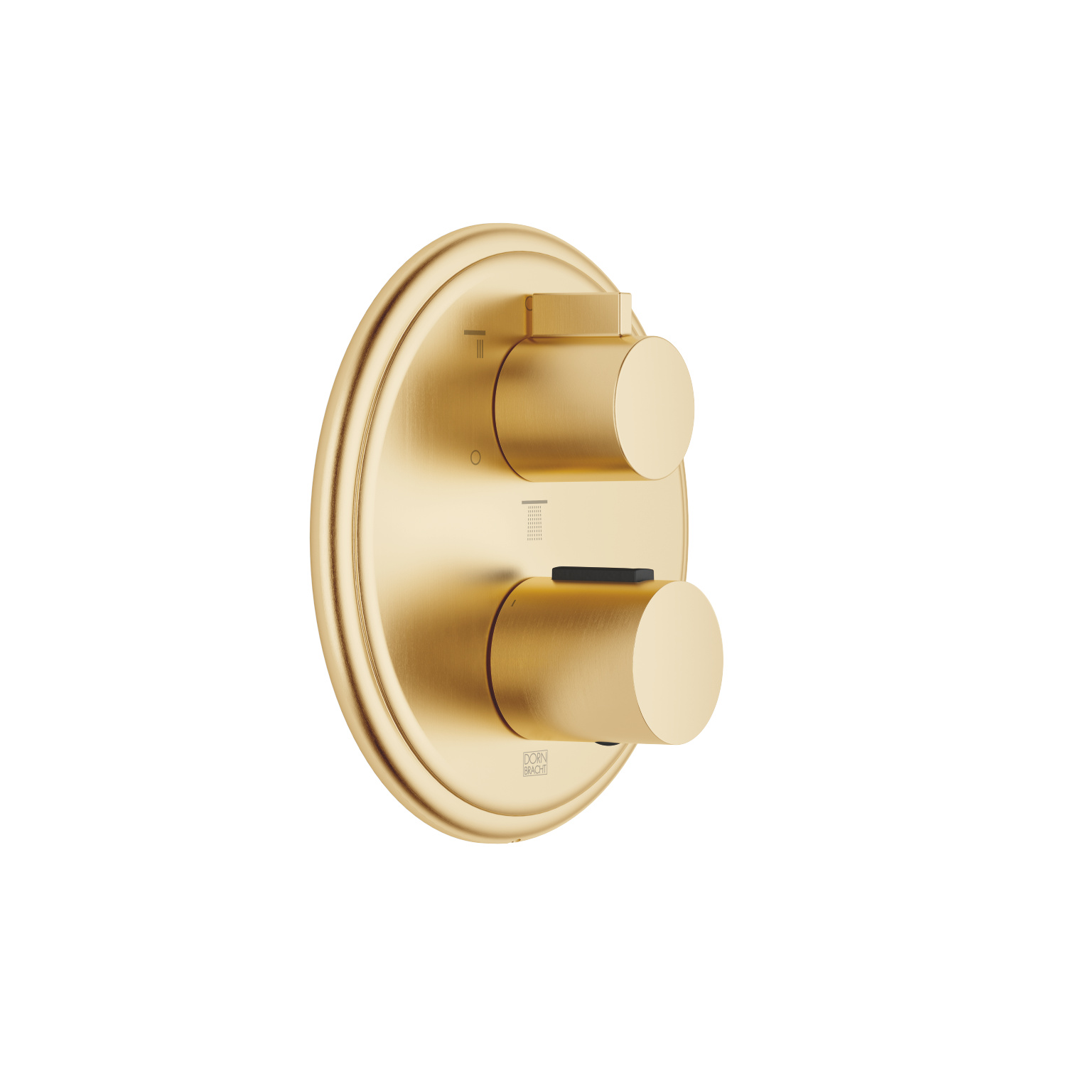 Concealed thermostat with three-way volume control - Brushed Durabrass
