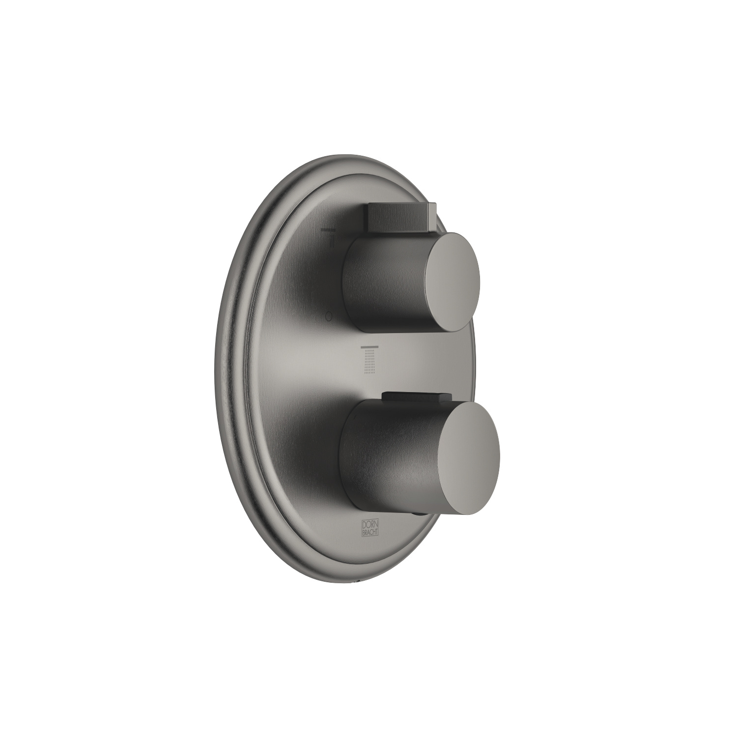 Concealed thermostat with three function volume control - Dark Platinum matt