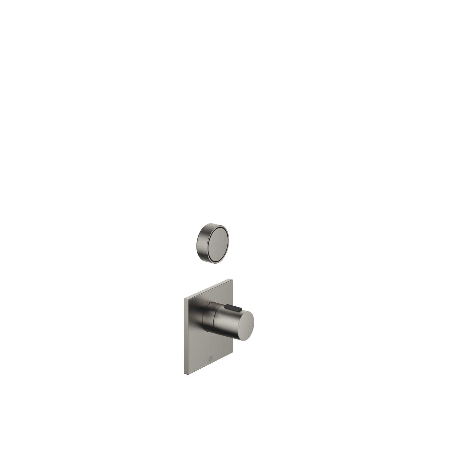 """xTOOL Concealed thermostat with one volume control 1/2"""" - Dark Platinum matte"""