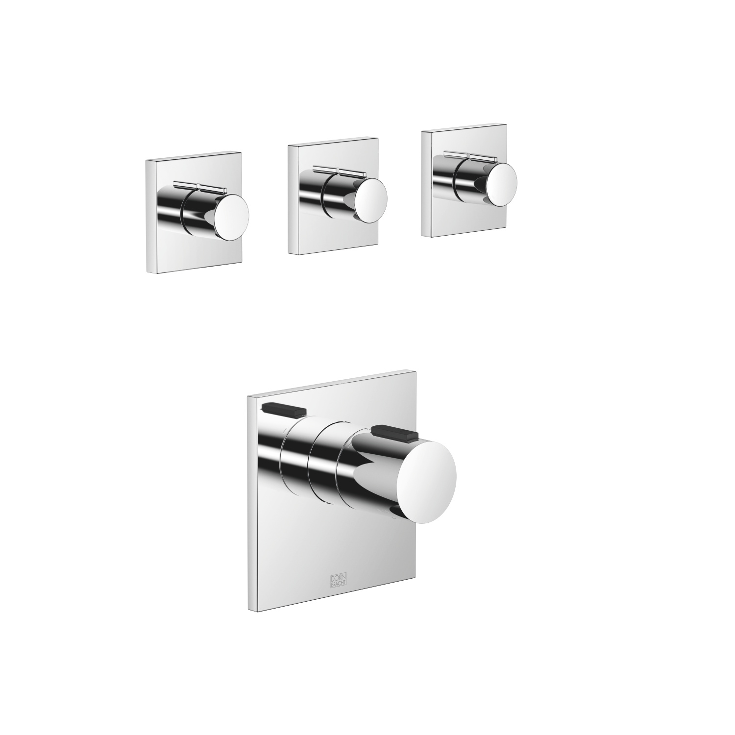 xTOOL thermostat with three volume controls - polished chrome