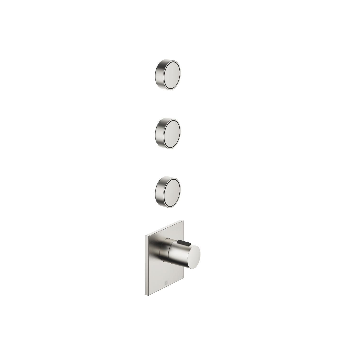 """xTOOL Concealed thermostat with three volume controls 1/2"""" - platinum matte"""