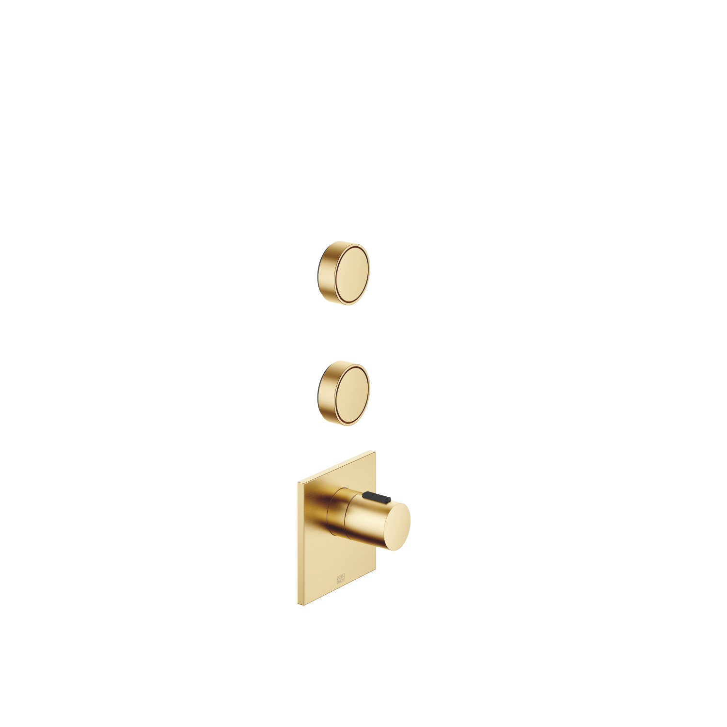 """xTOOL Concealed thermostat with two volume controls 1/2"""" - Brushed Durabrass"""