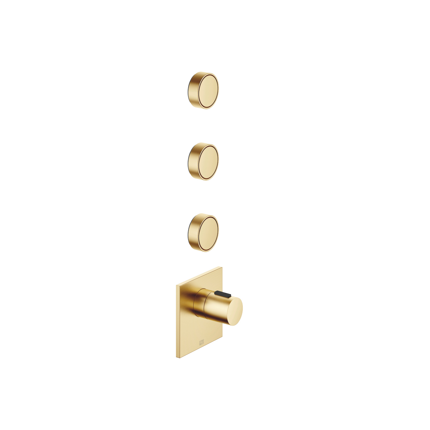"""xTOOL Concealed thermostat with three volume controls 1/2"""" - Brushed Durabrass"""