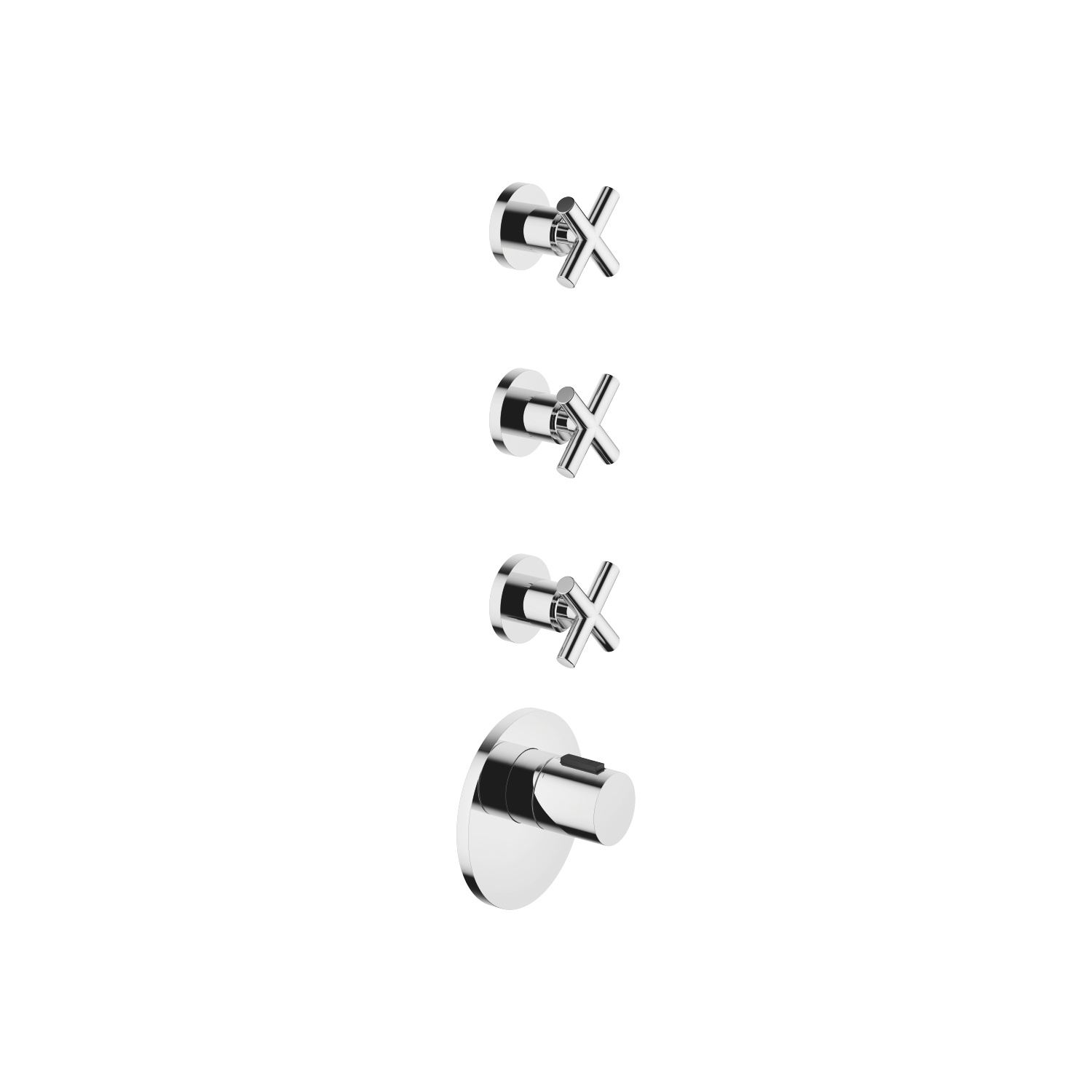 xTOOL Thermostat module with 3 valves - polished chrome