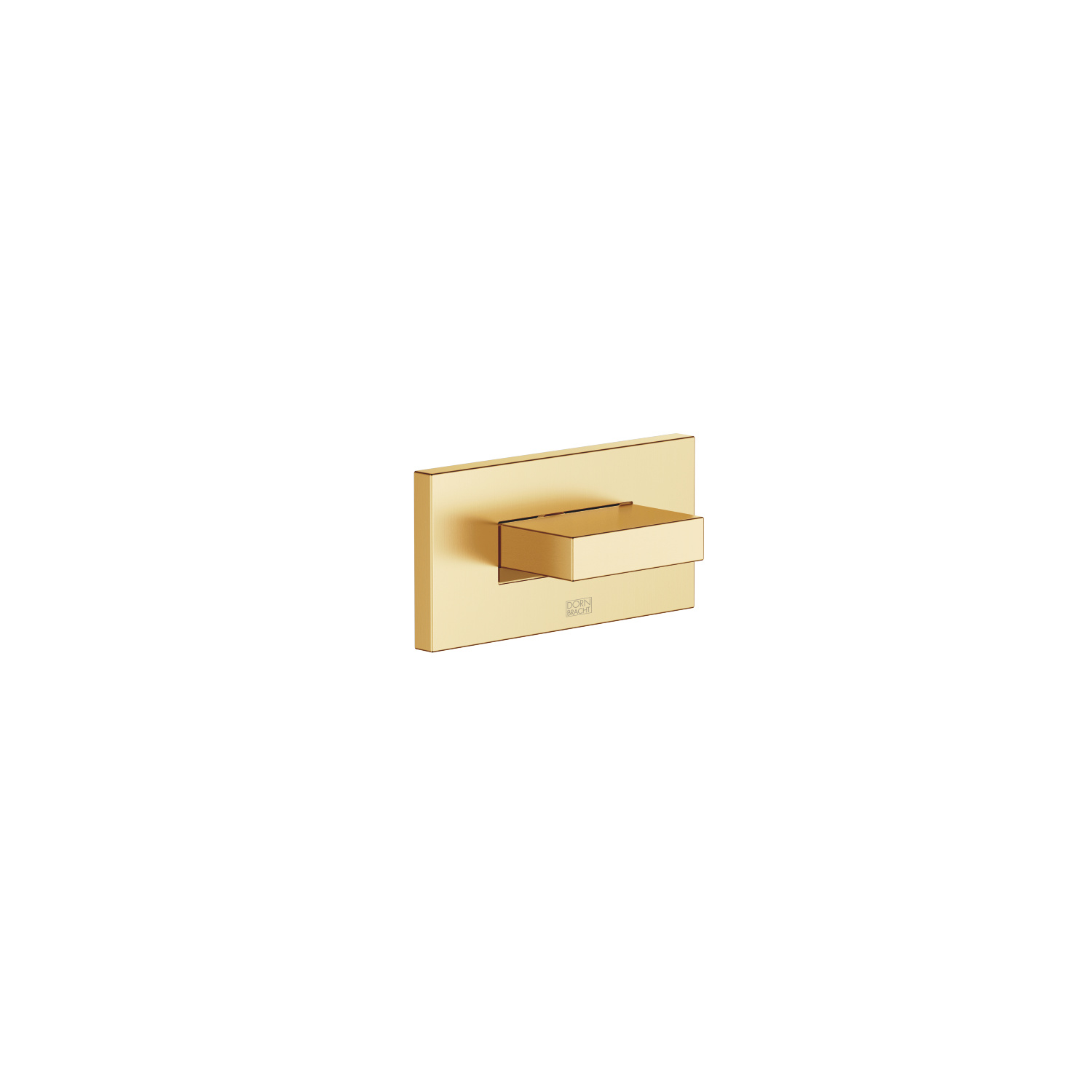WATER CURVE Concealed body spray - brushed Durabrass