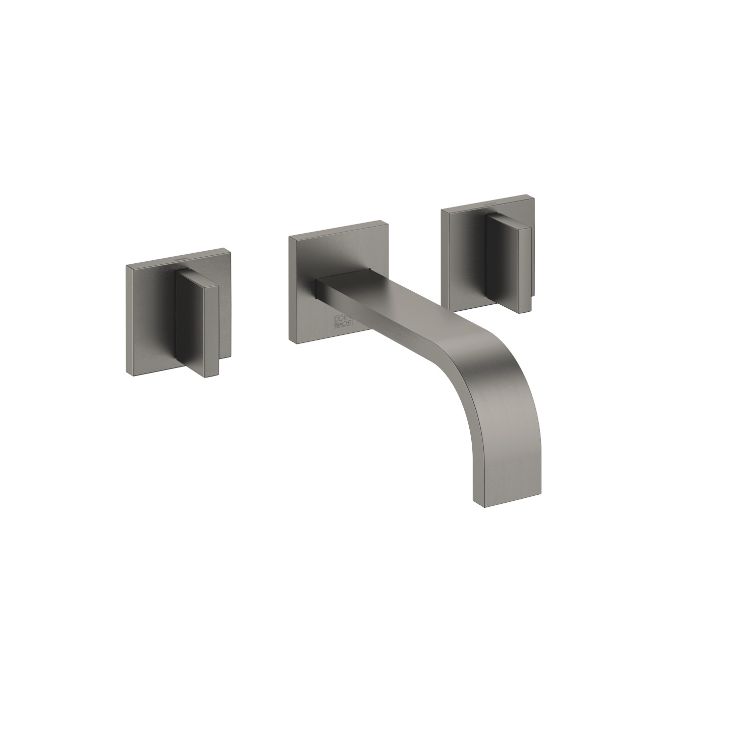 Wall-mounted basin mixer without pop-up waste - Dark Platinum matt
