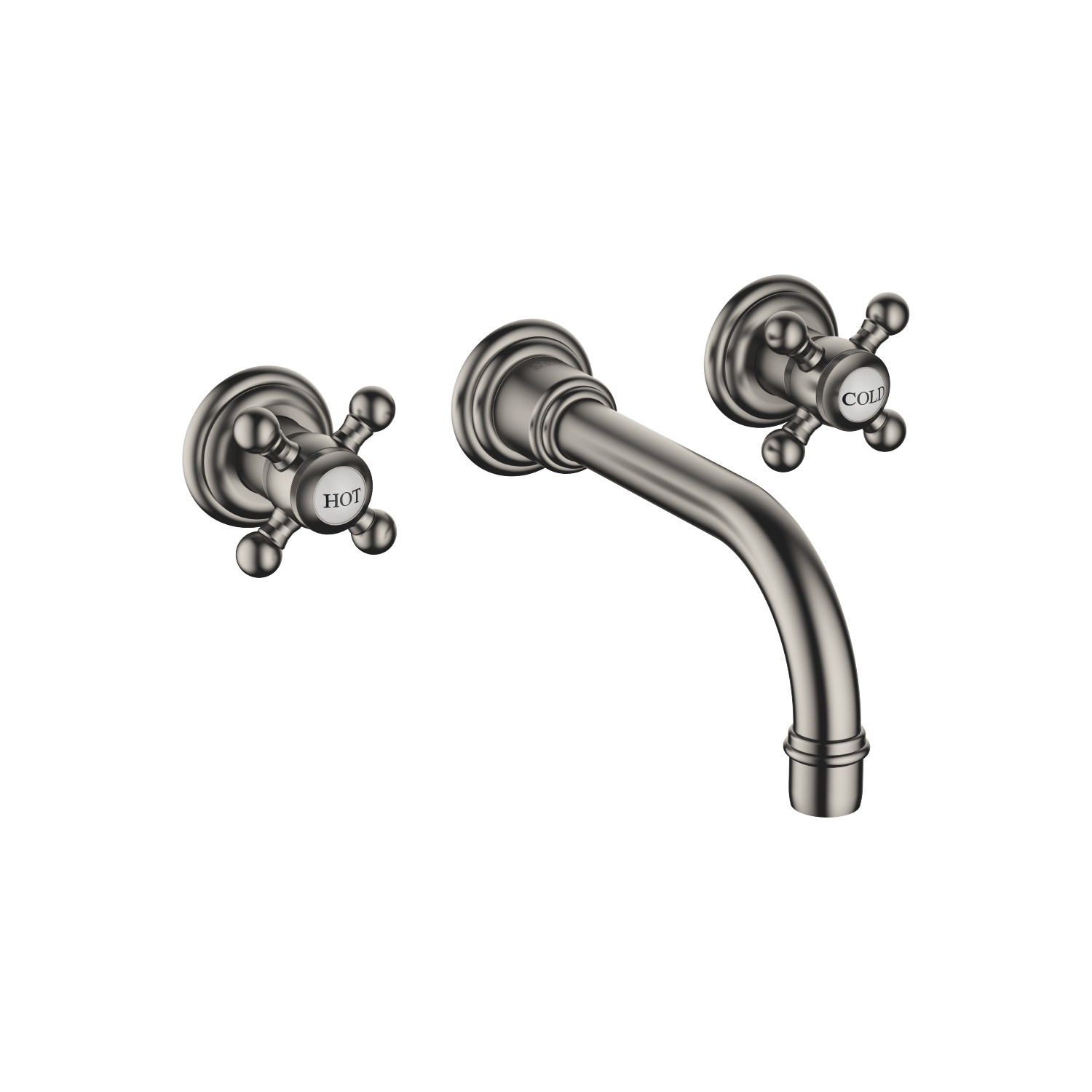 Wall-mounted basin mixer without pop-up waste - Dark Platinum matt - 36 712 361-99