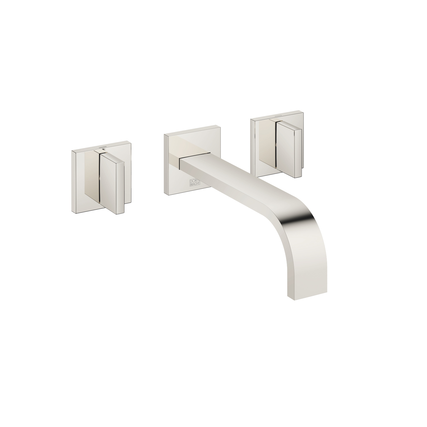 Wall-mounted basin mixer without pop-up waste - platinum - 36 712 782-08