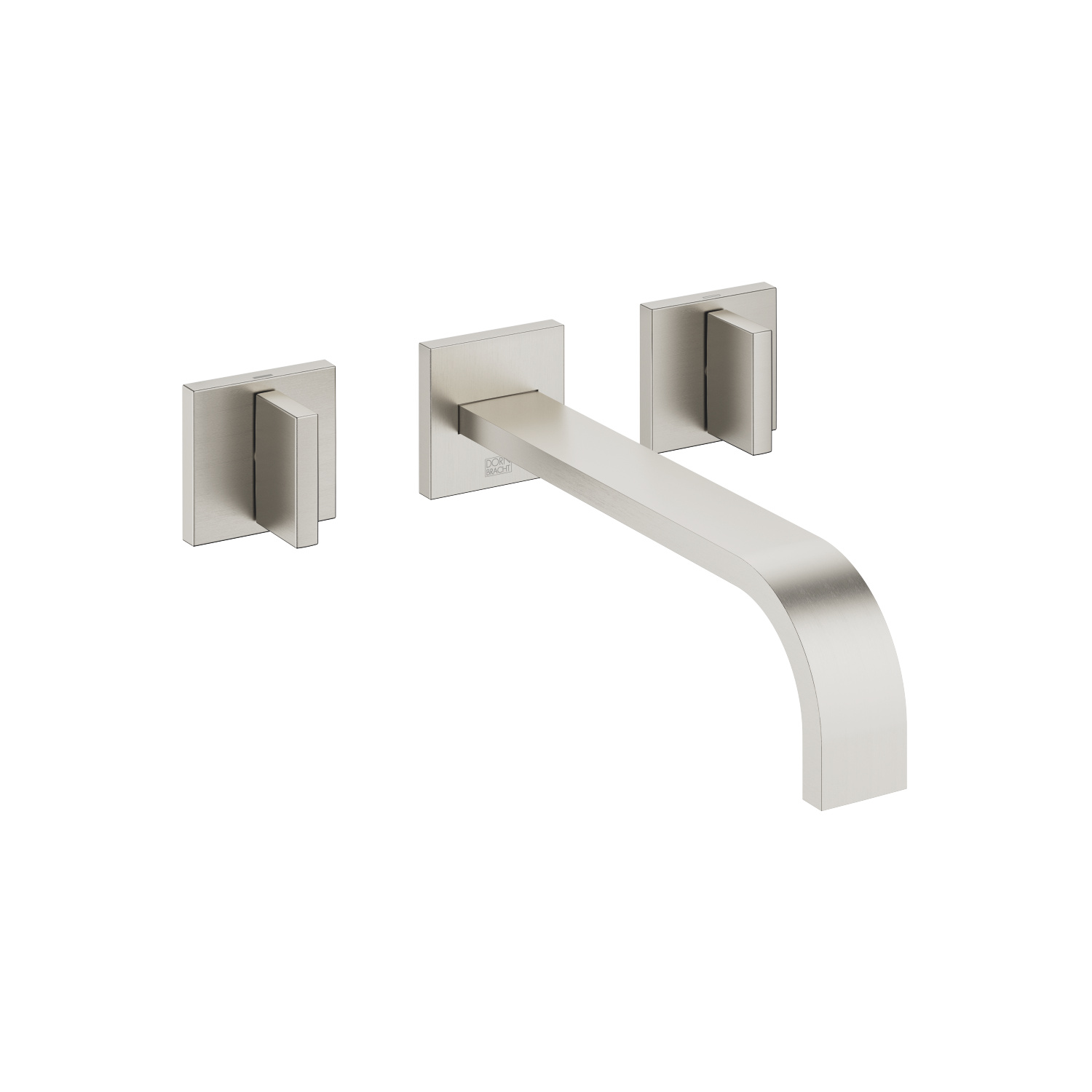 Wall-mounted three-hole lavatory mixer without drain - platinum matte - 36 717 782-06 0010