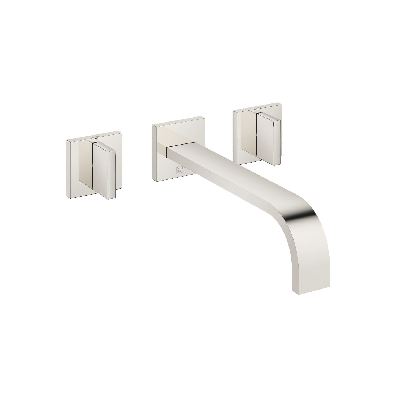 Wall-mounted basin mixer without pop-up waste - platinum - 36 717 782-08