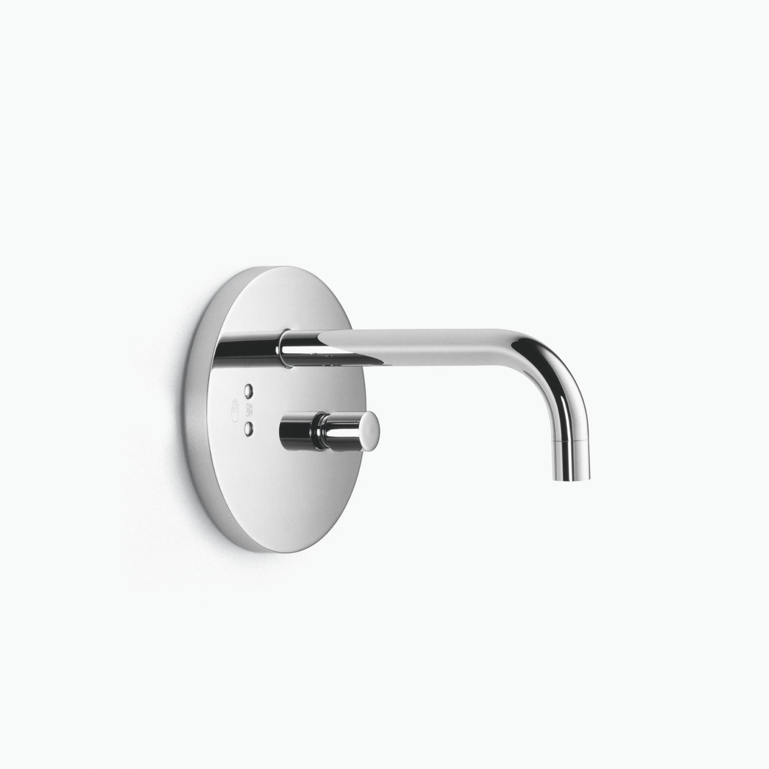 Infrared washstand wall regulator with temperature control knob without drain - polished chrome