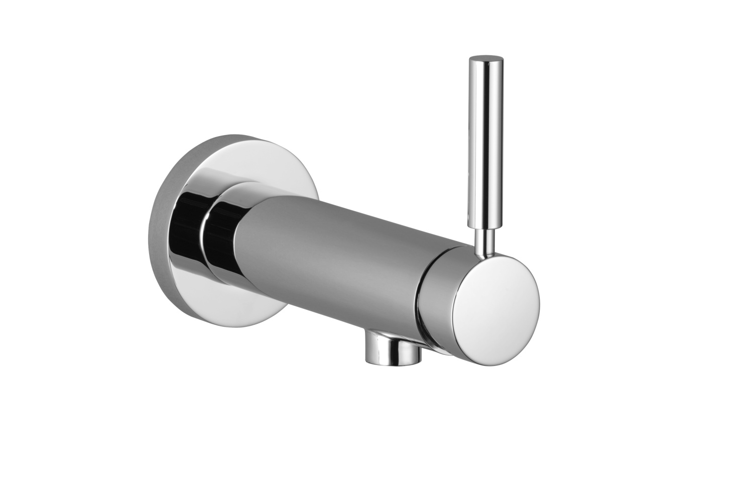 Wall-mounted single-lever mixer without drain - platinum matte