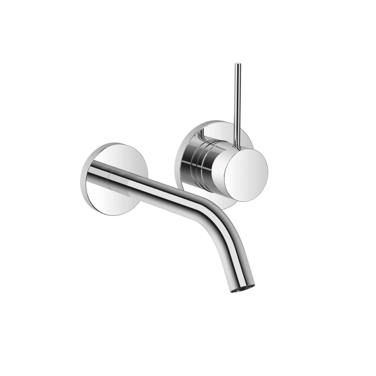 META SLIM Wall-mounted single-lever basin mixer without pop-up waste - polished chrome