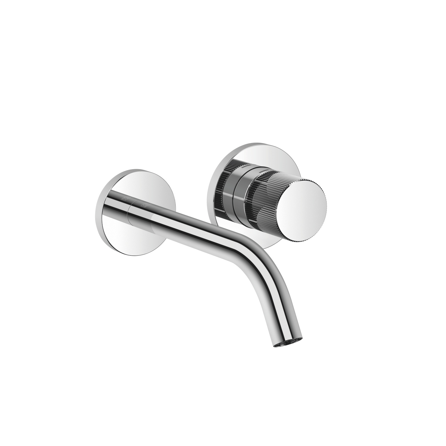 META PURE Wall-mounted single-lever basin mixer without pop-up waste - polished chrome
