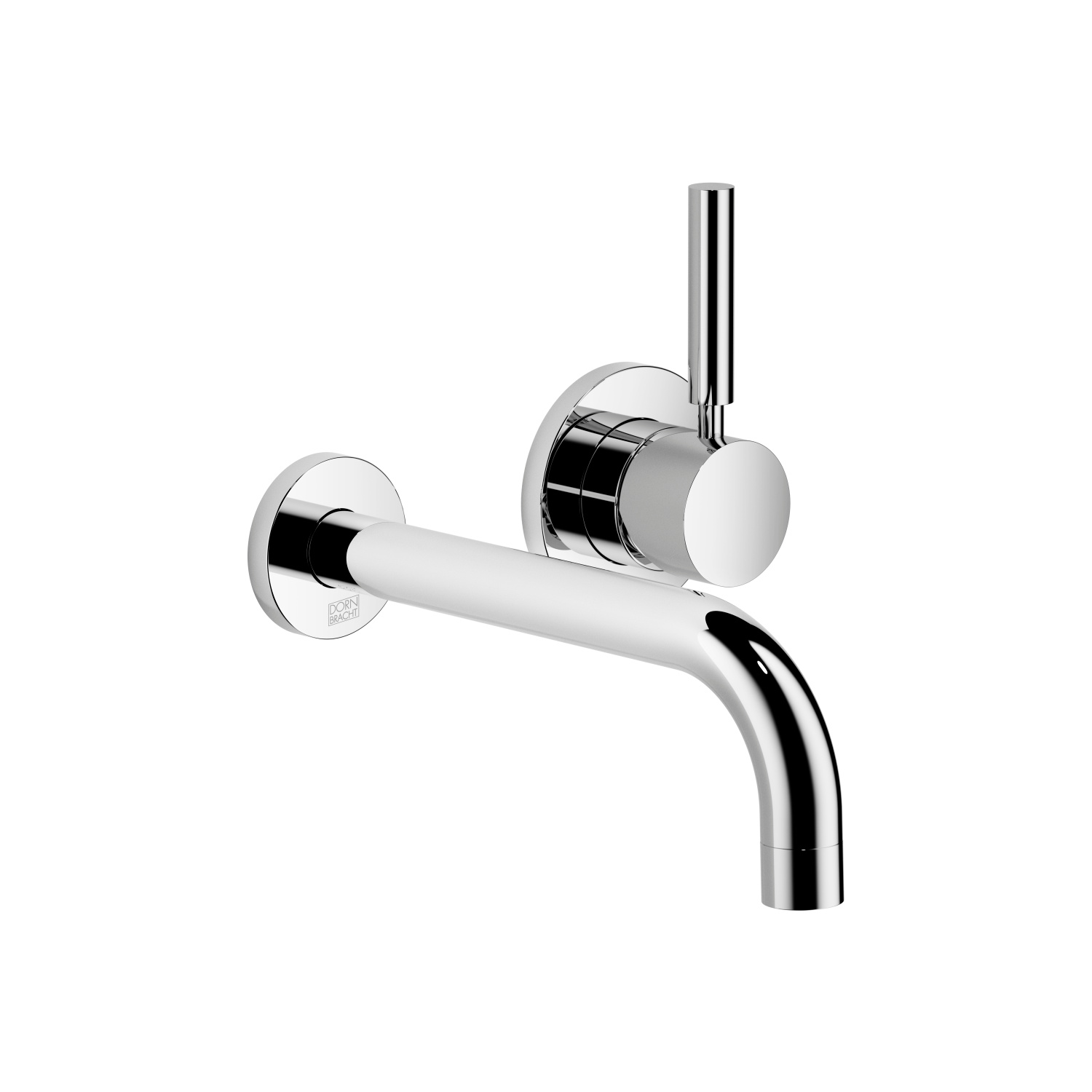 Wall-mounted single-lever basin mixer without pop-up waste - Cyprum