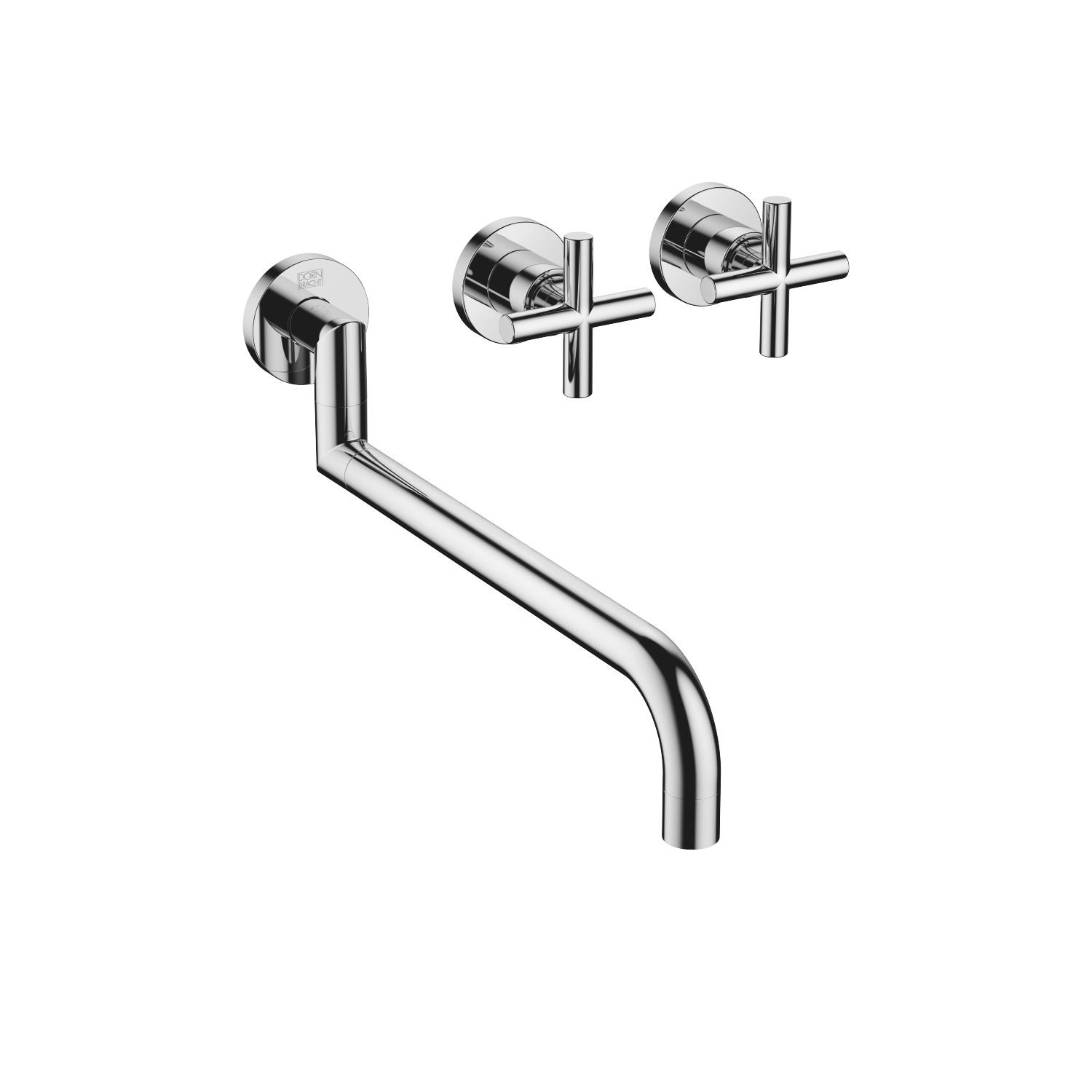 Wall-mounted sink mixer - polished chrome