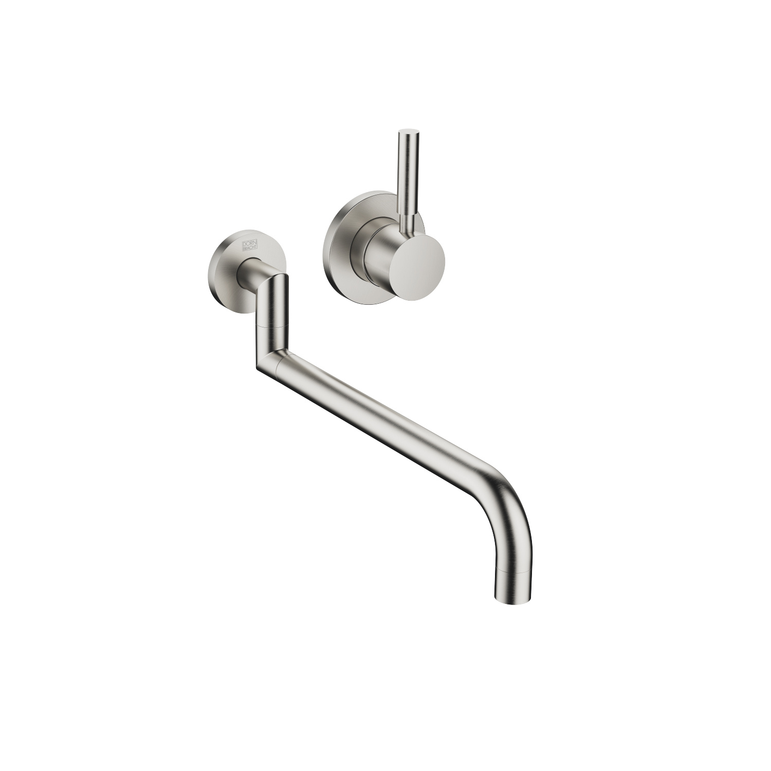 Wall-mounted mixer with individual rosettes - platinum matt