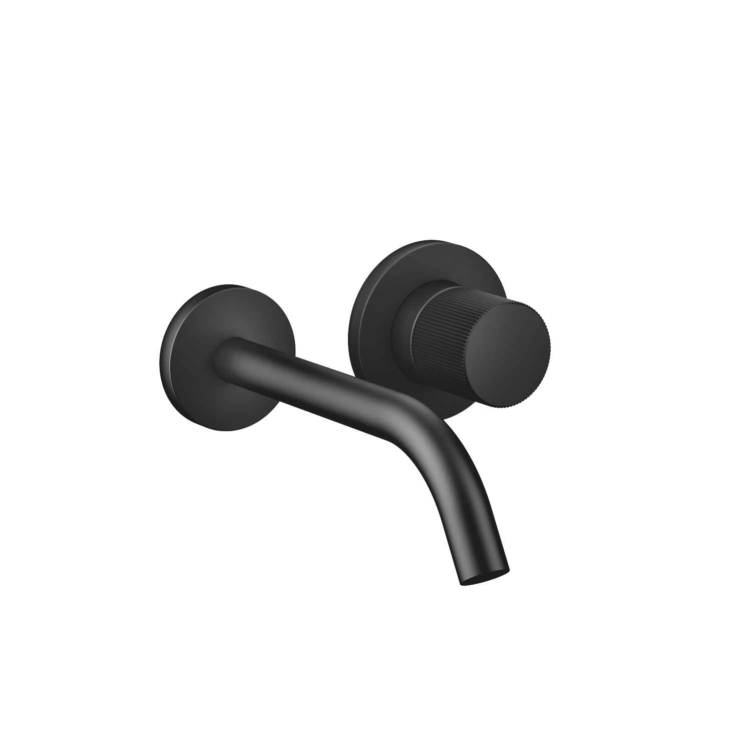 META PURE Wall-mounted single-lever mixer without drain - black matte