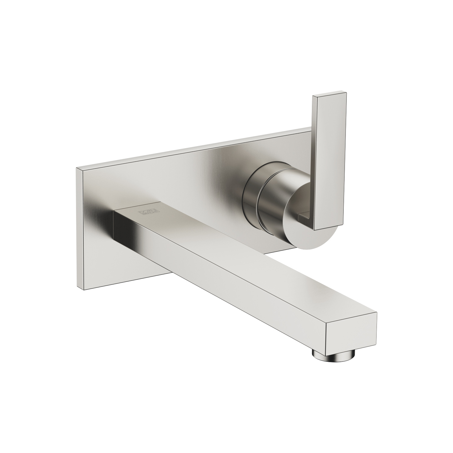 Wall-mounted mixer with cover plate - platinum matt