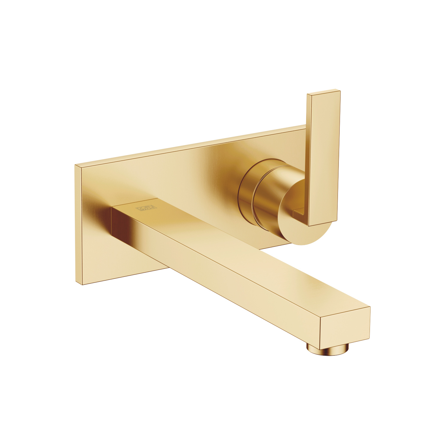 Single lever mixer with cover plate - Brushed Durabrass - 36 860 680-28
