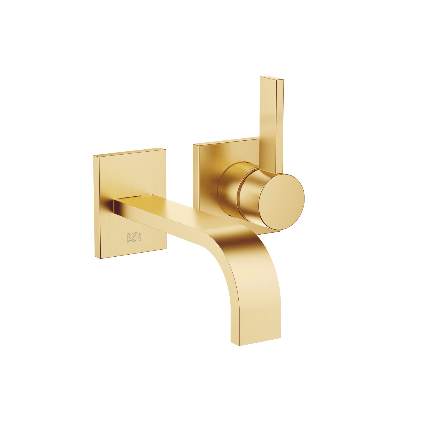 Wall-mounted single-lever basin mixer without pop-up waste - brushed Durabrass