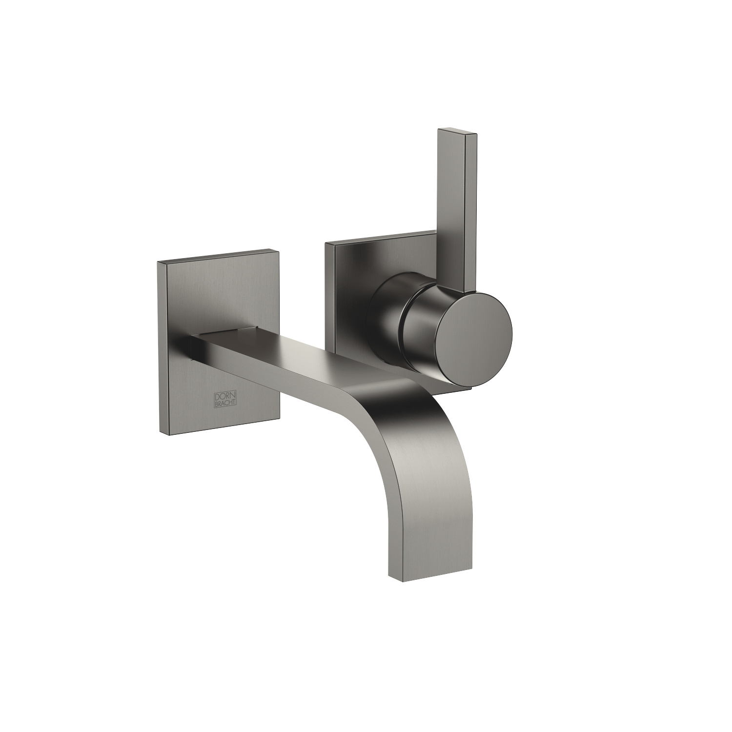 Wall-mounted single-lever mixer without drain - Dark Platinum matte