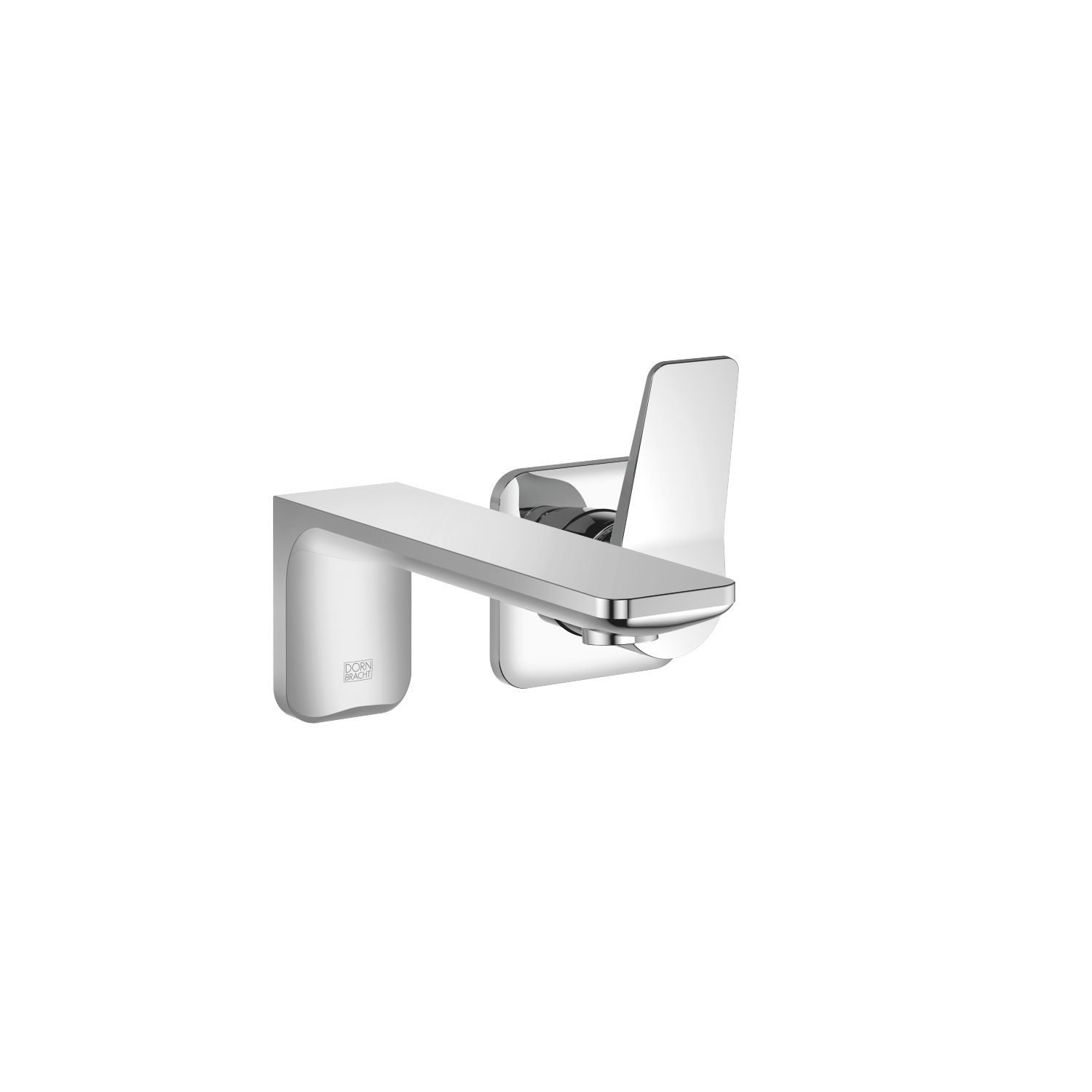 Wall-mounted single-lever mixer without drain - polished chrome