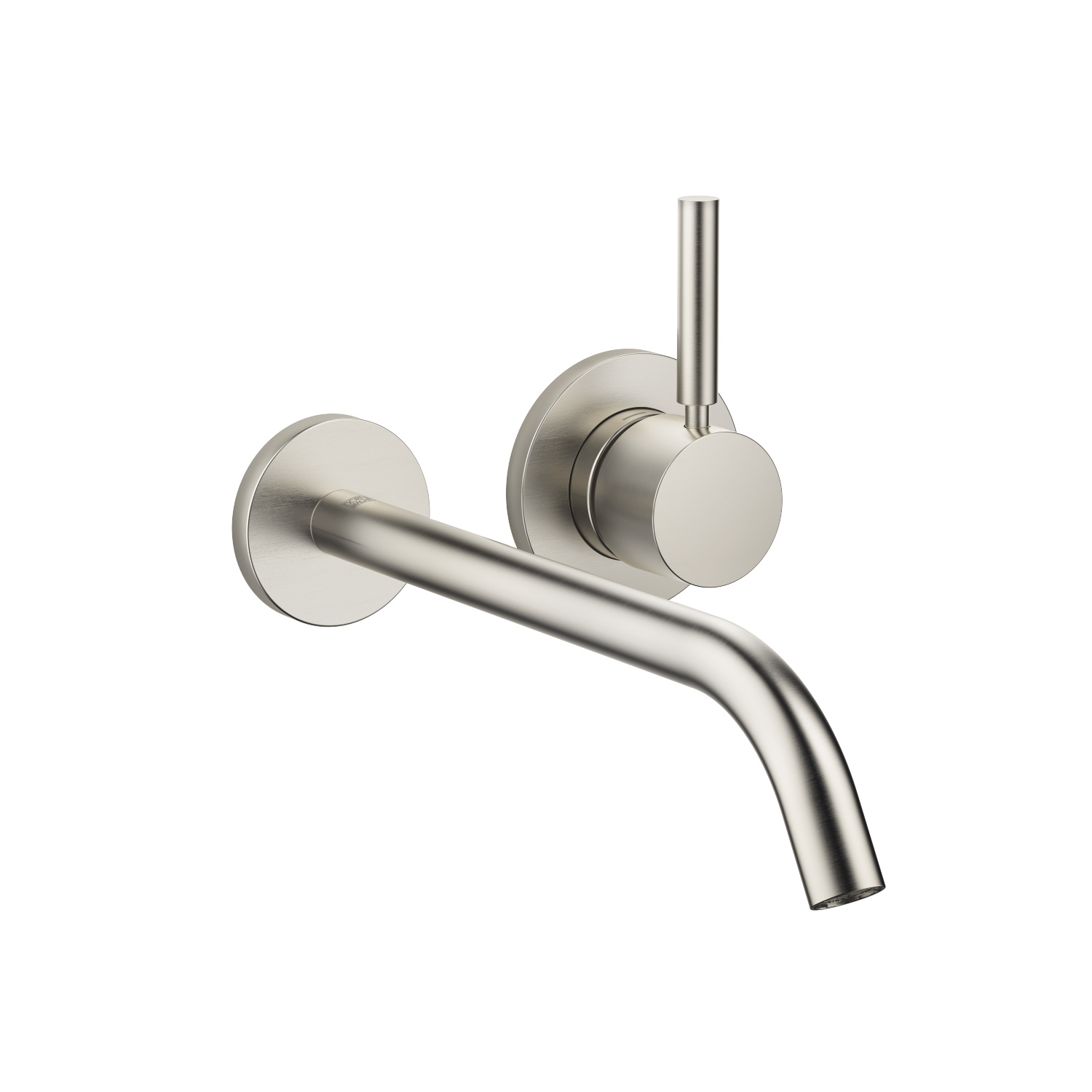 Wall-mounted single-lever basin mixer without pop-up waste - platinum matt - 36 861 660-06
