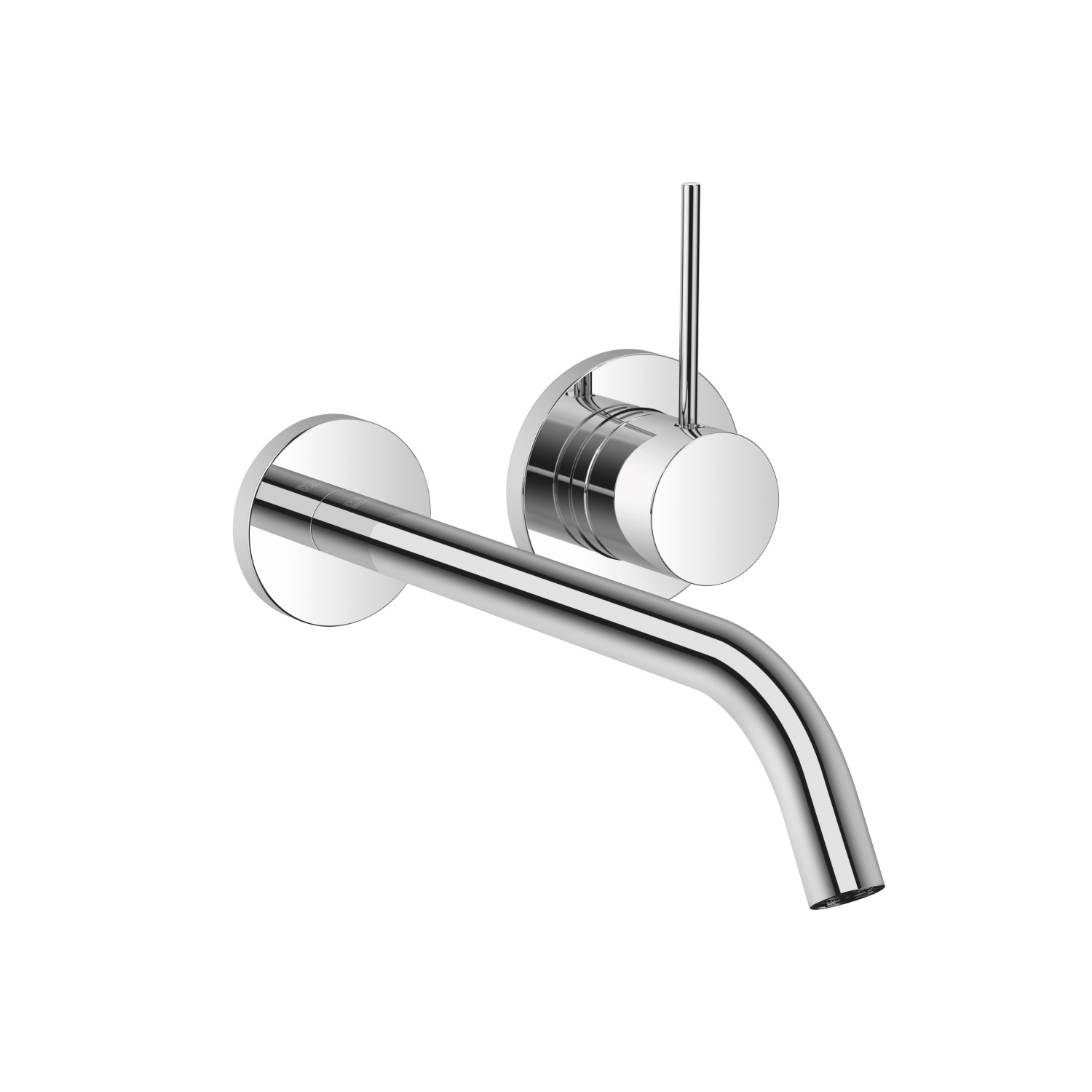 META SLIM Wall-mounted single-lever mixer without drain - polished chrome