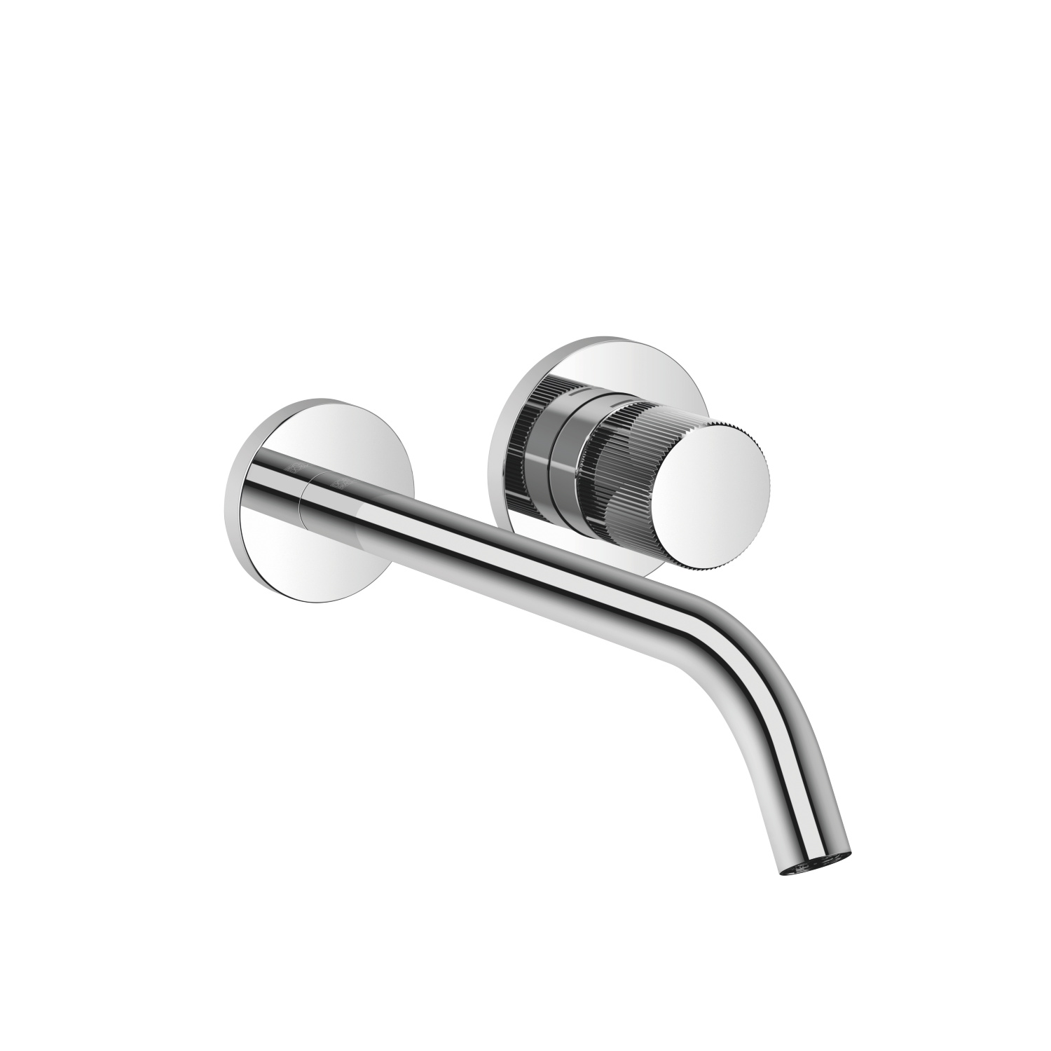 META PURE Wall-mounted single-lever mixer without drain - polished chrome