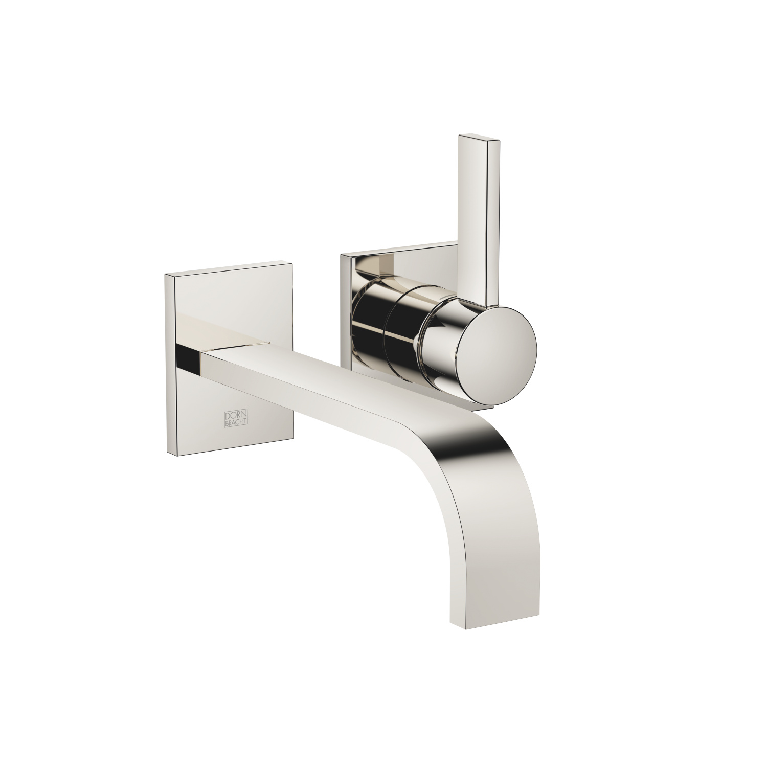 Wall-mounted single-lever mixer without drain - platinum