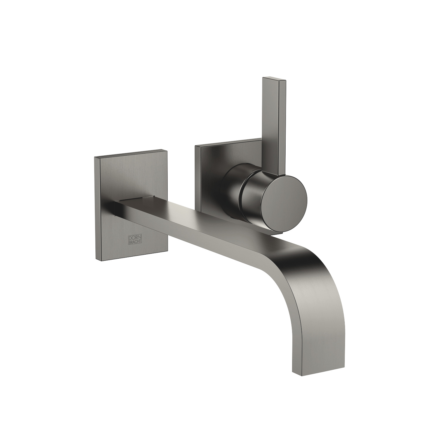 Wall-mounted single-lever basin mixer without pop-up waste - Dark Platinum matt
