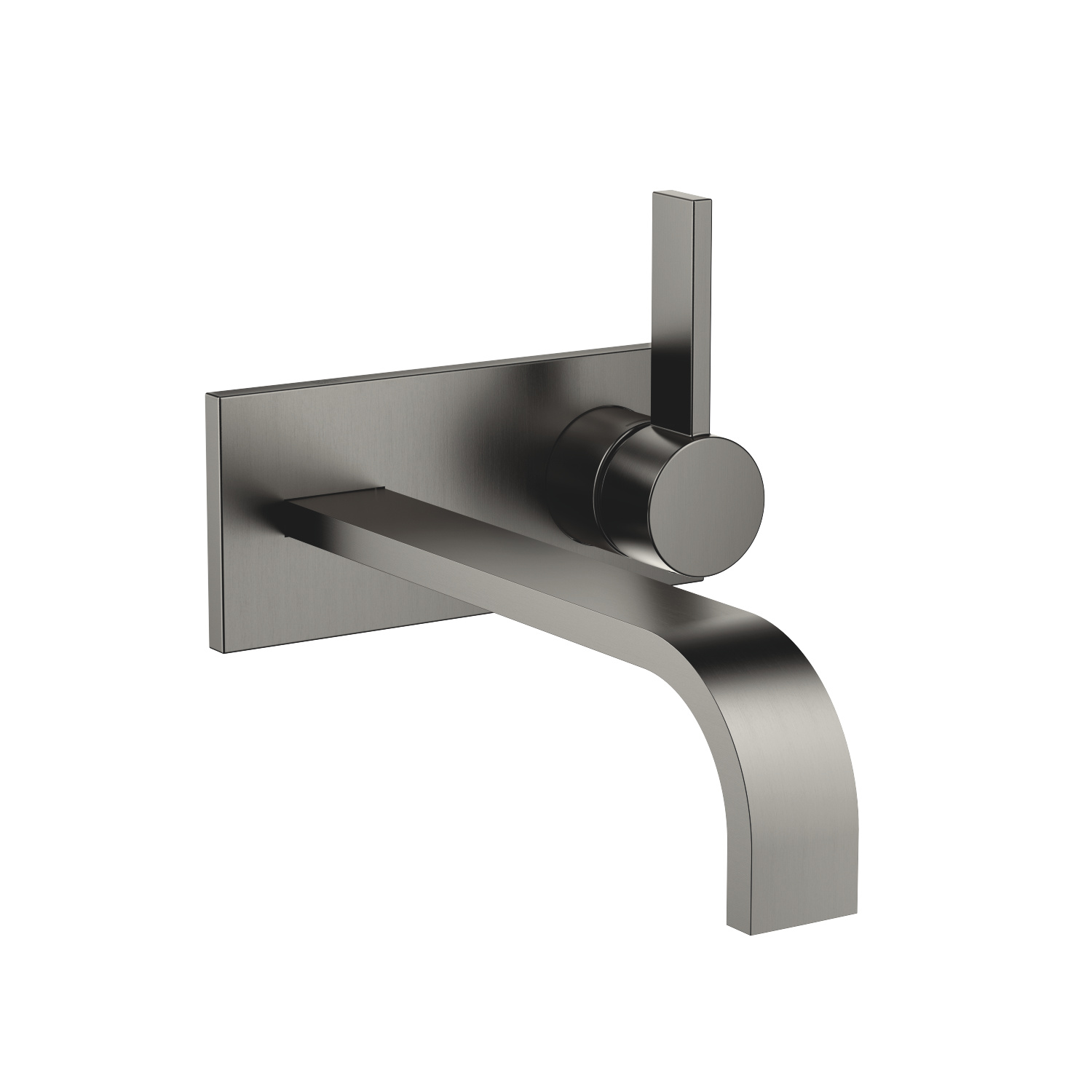 Wall-mounted single-lever mixer with cover plate without drain - Dark Platinum matte