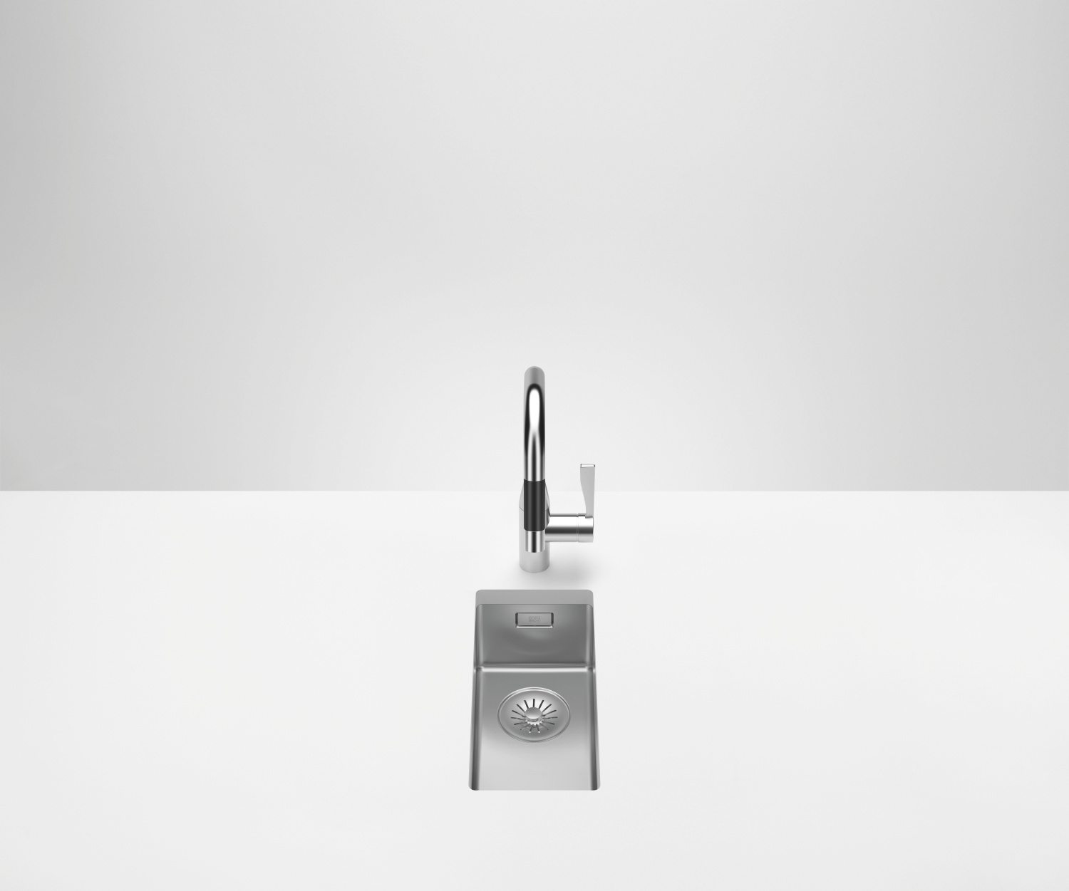 Single sink - polished high-grade steel - 38 180 003-85