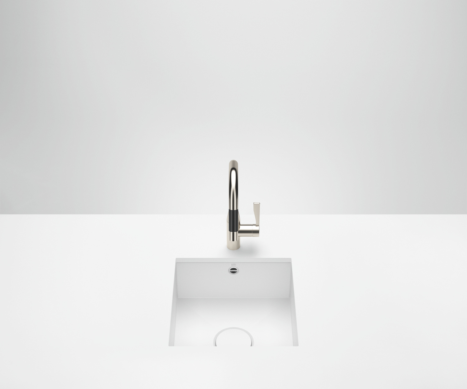 Single sink - matt white - 38 400 002-62