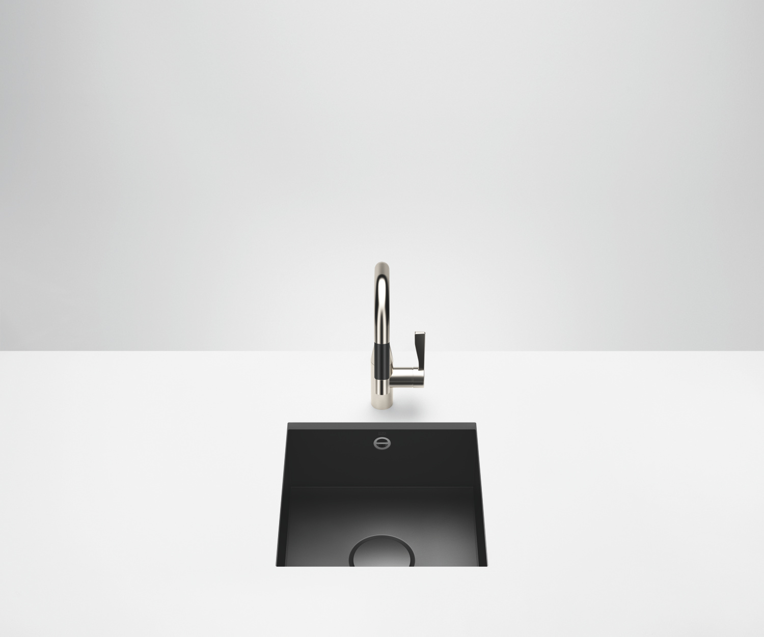 Single sink - matt black - 38 400 002-71