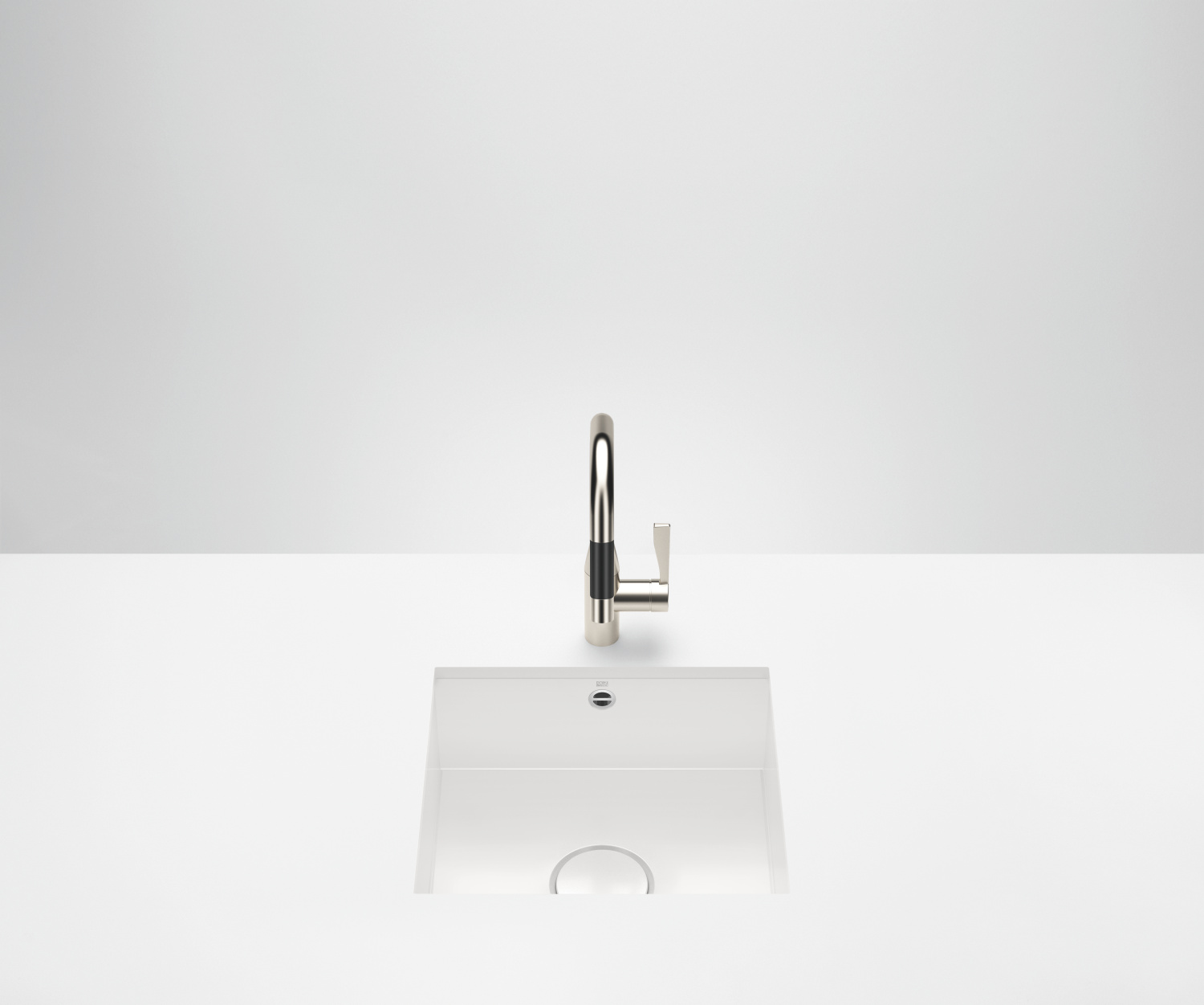 Single sink - high-gloss white - 38 450 002-73