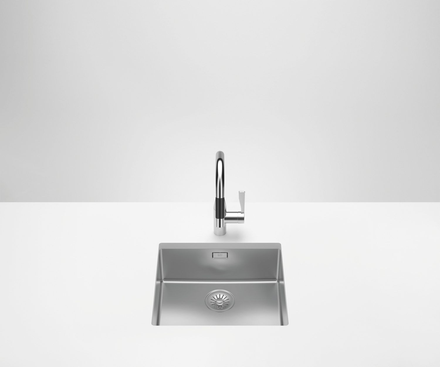 Single sink - polished high-grade steel - 38 450 003-85