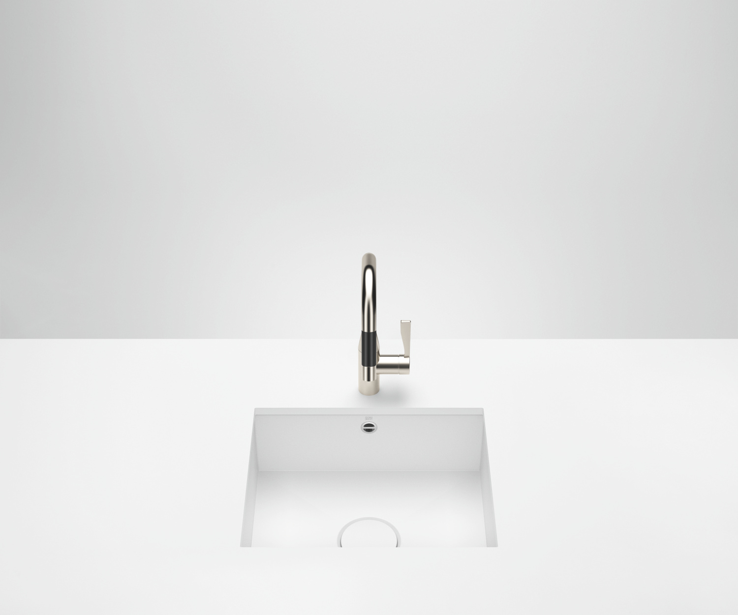 Single sink - matt white - 38 500 002-62