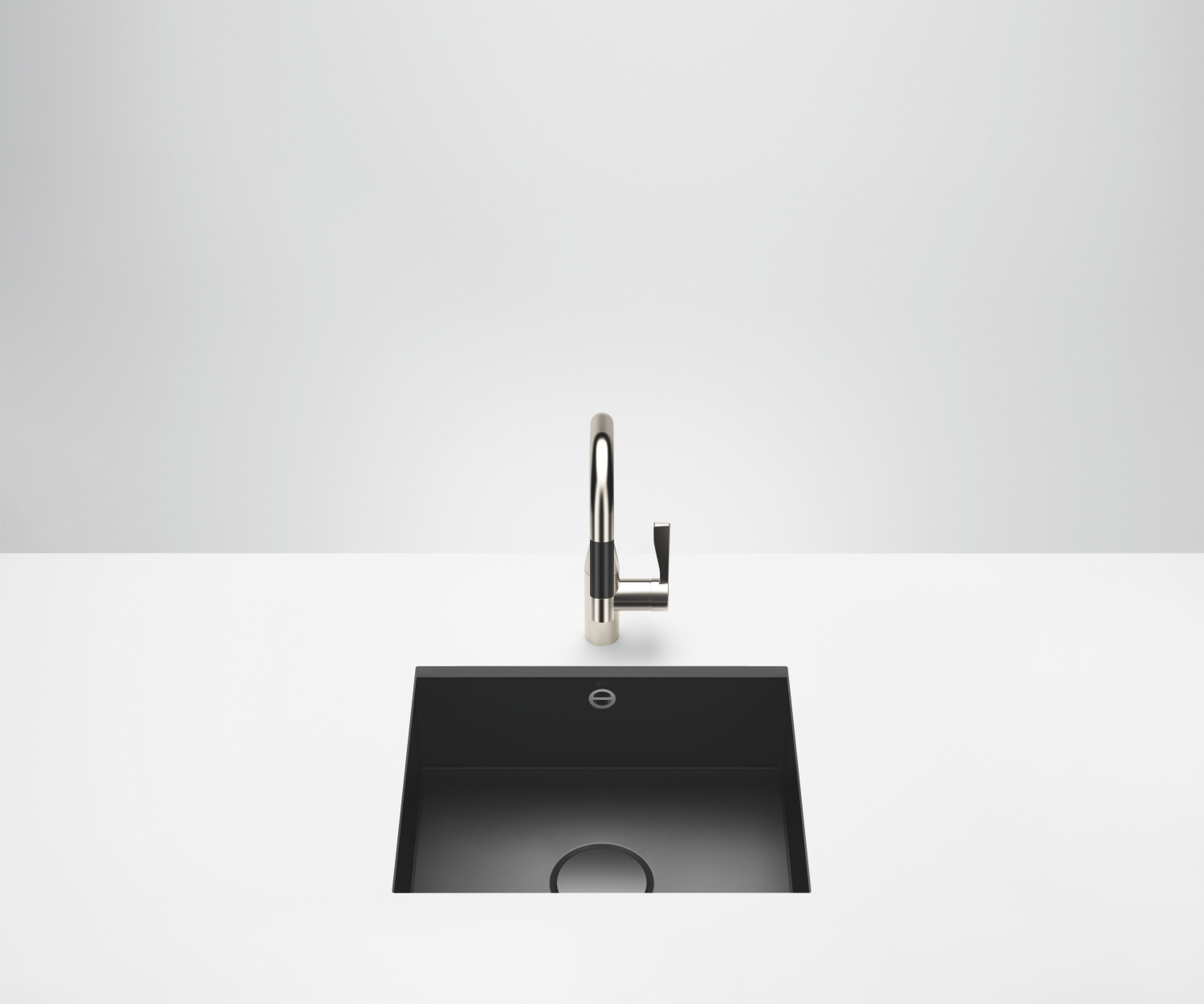 Single sink - matt black - 38 500 002-71