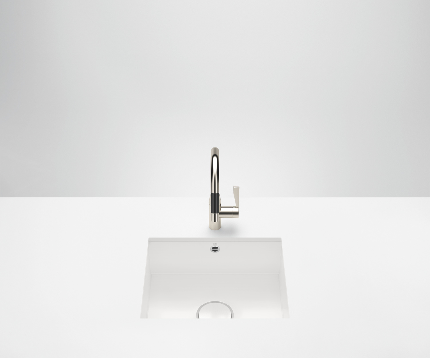 Single sink - high-gloss white