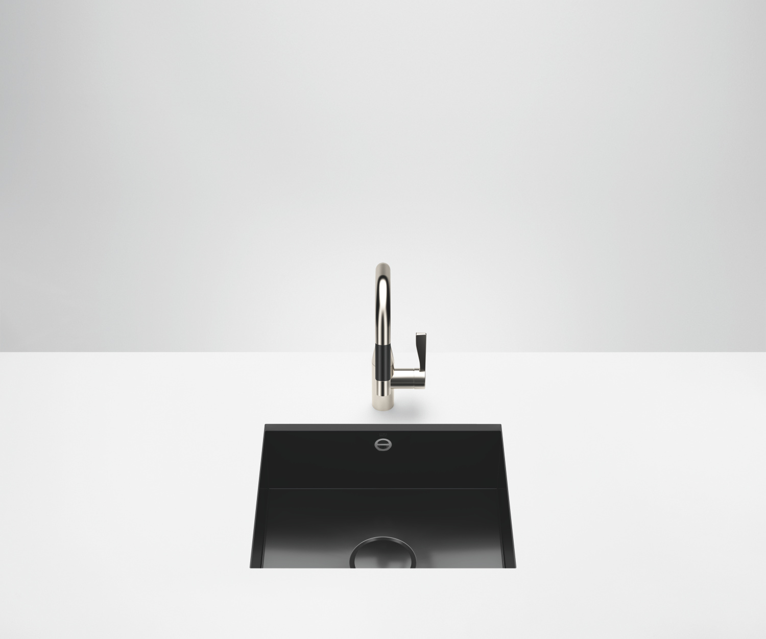 Single sink - high-gloss black - 38 500 002-76