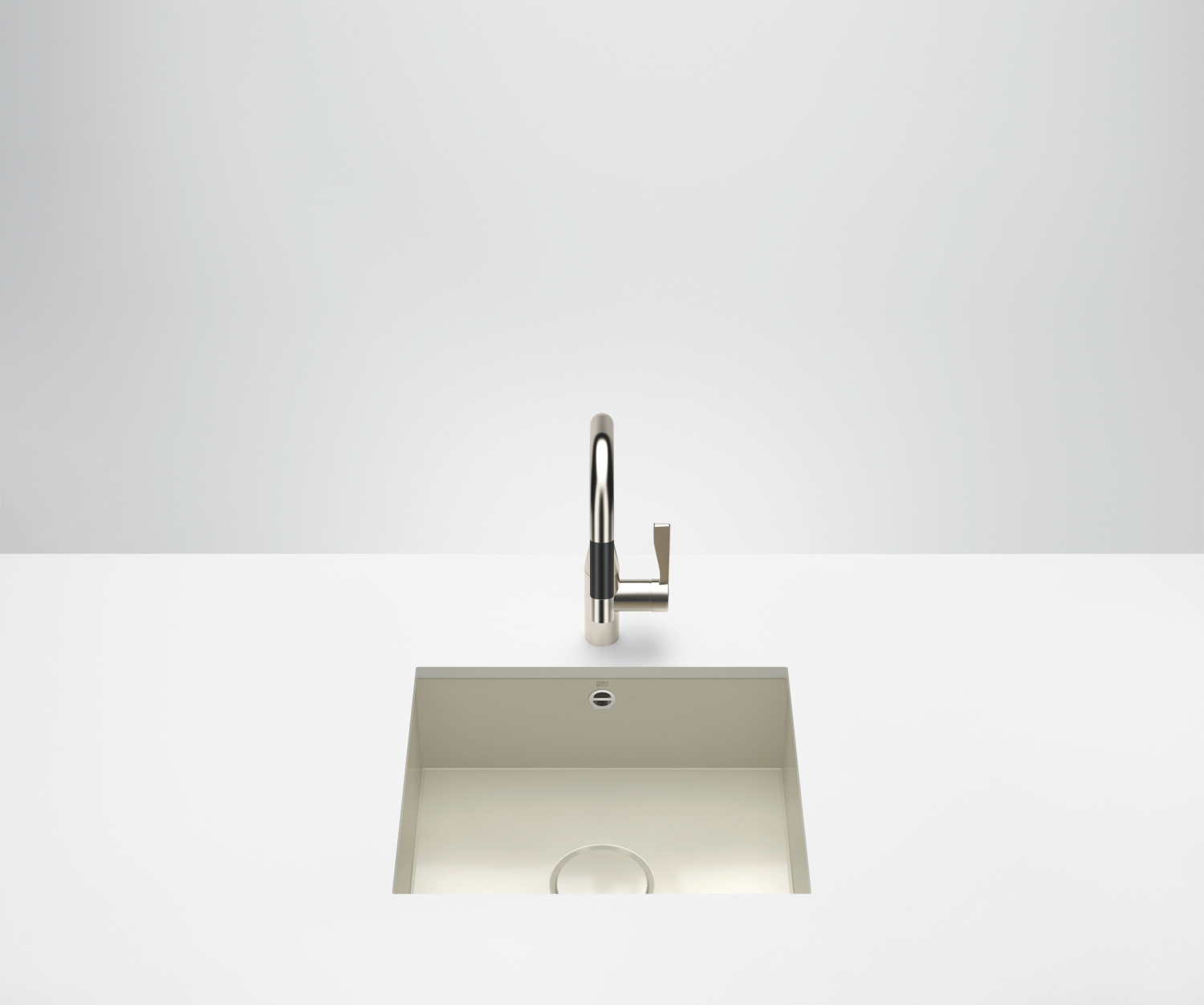 Single bowl sink - glossy sand